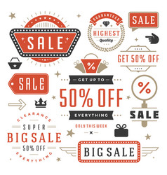 sale labels and tags design vintage set vector image vector image