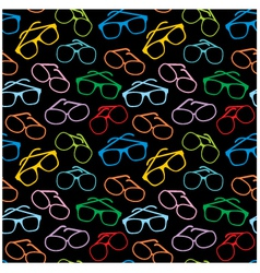 seamless sun glasses accessories pattern vector image