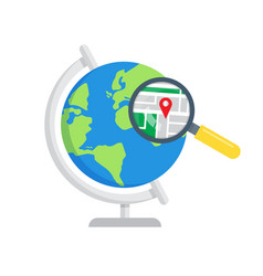 Search local maps global search icon vector