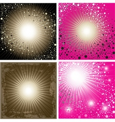 set of shining backgrounds vector image