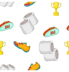 Tennis equipment pattern cartoon style vector
