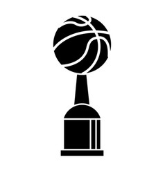 Trophy basketball sport pictogram vector