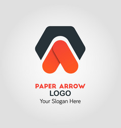 upside arrow business logo template vector image