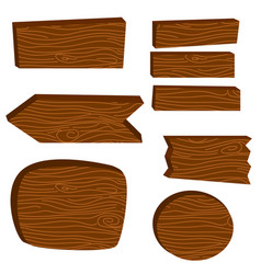 Wooden board planks vector