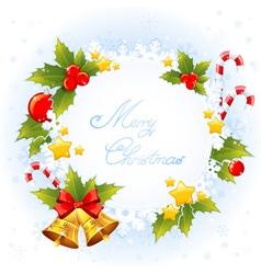 Xmas decorative congratulation card with symbols vector image vector image