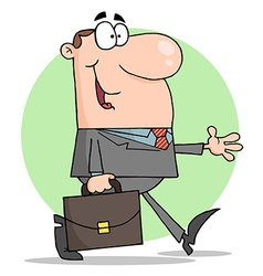 Happy businessman walking vector