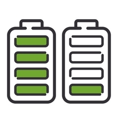 Batteries electricity technology icon vector