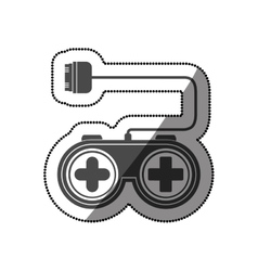 Isolated gamepad of videogame design vector
