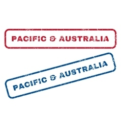 Pacific  australia rubber stamps vector