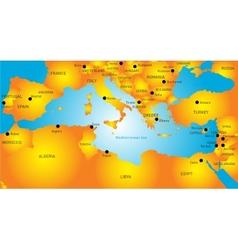 Mediterranean region vector