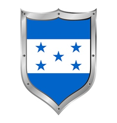 Honduras flag button vector
