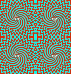 Hypnotic pattern bright vector image