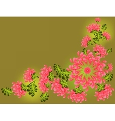The pattern of pink flowers and leaves eps10 vector