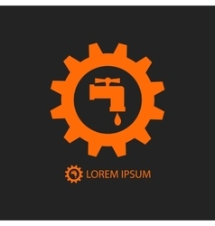 Orange plumbing logo vector