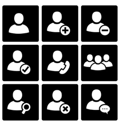 Black people icon set vector
