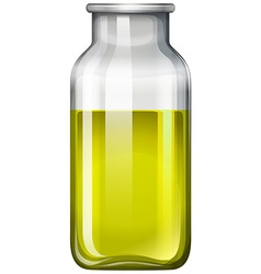 Yellow liquid in glass bottle vector