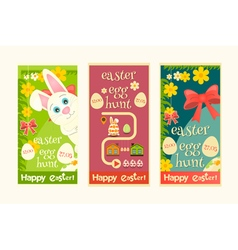 Easter invitation cards set vector