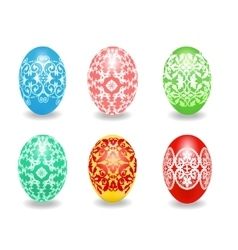 Set of easter egg vector