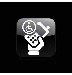 Handicap phone icon vector