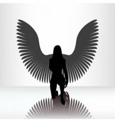 kneeling angel vector image