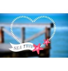 Sea trip - summer poster vector