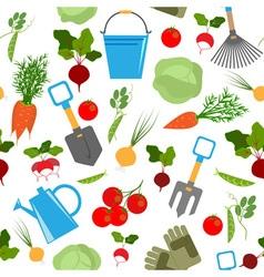 vegetable garden seamless pattern vector image