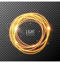 Light effects rings motions glowing lines with vector