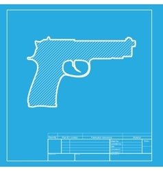 Gun sign  white section of icon on vector