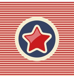American star flat icon vector image
