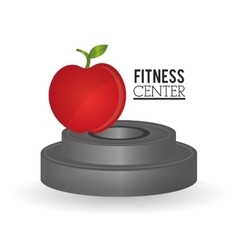 Apple weight and fitness design vector