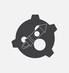 Black icon on white background satellite and vector