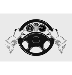 Car hand drawn sketch driving vector