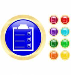 checklist icons vector image vector image