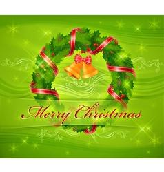 christmas ornament holy wreath 10 SS v vector image