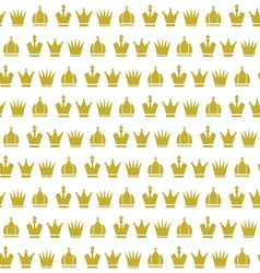 Crown seamless pattern2 vector image vector image