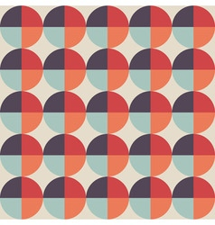 Geometric abstract seamless pattern with circle vector