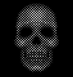 Halftone dot skull vector