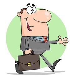 Happy Businessman Walking vector image vector image