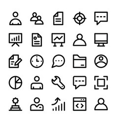 human resources line icons 1 vector image vector image