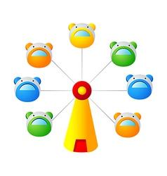 icon amusement park wheels vector image vector image