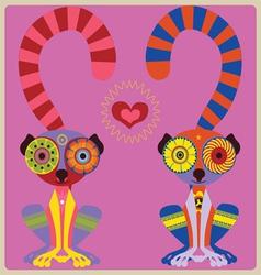 lemurs couple vector image vector image
