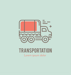 line truck logo vector image vector image