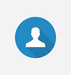 male profile Flat Blue Simple Icon with long vector image vector image