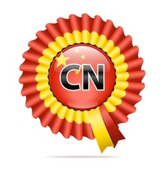 National flag badge cn vector