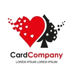 Playing card suit logo vector