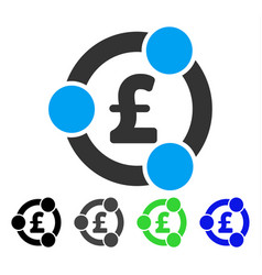 Pound financial collaboration flat icon vector
