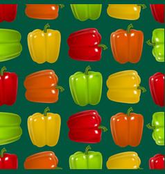 realistic detailed color pepper seamless pattern vector image vector image