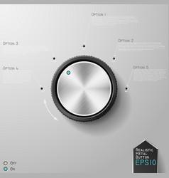 Realistic metal knob vector image