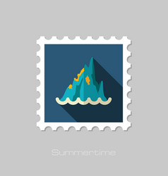 Rocks in the sea stamp summer vacation vector