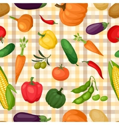 Seamless pattern with fresh ripe stylized vector image vector image